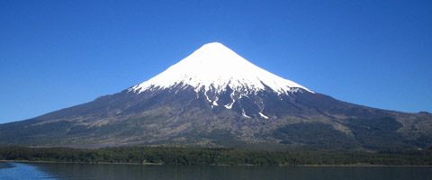 Na zdjęciu wulkan Lanin, Patagonia, południowa Argentyna.