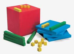 Materiał Montessori do działań w systemie dziesiętnym. Za jego pomocą można przedstawić różne problemy i zadania