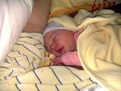 Helena Marta, dzień po narodzinach